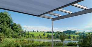 Glass Veranda with Awning